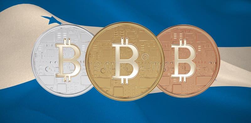 Image composée de bitcoin illustration libre de droits