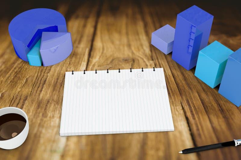 Download Image Composée De Bloc-notes Avec Des Graphiques Illustration Stock - Illustration du boisson, données: 56479492