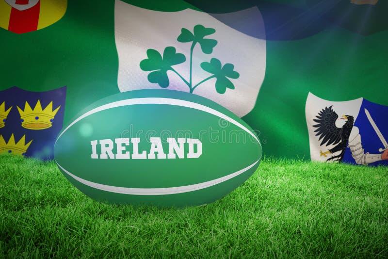 Image composée de boule de rugby de l'Irlande illustration de vecteur