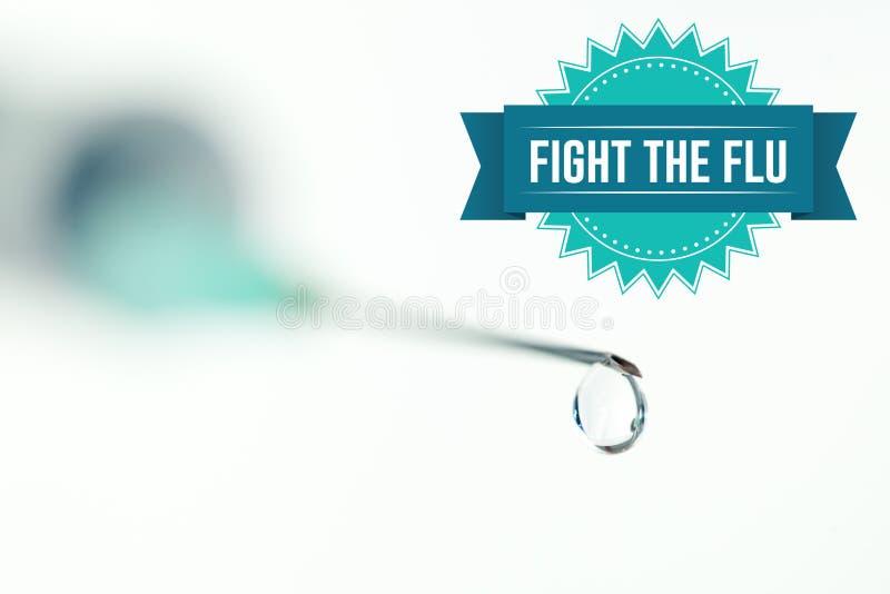 Image composée de combat la grippe illustration stock