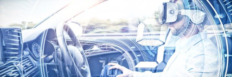Image composée de composé numérique de bouton de volume avec des graphiques image stock