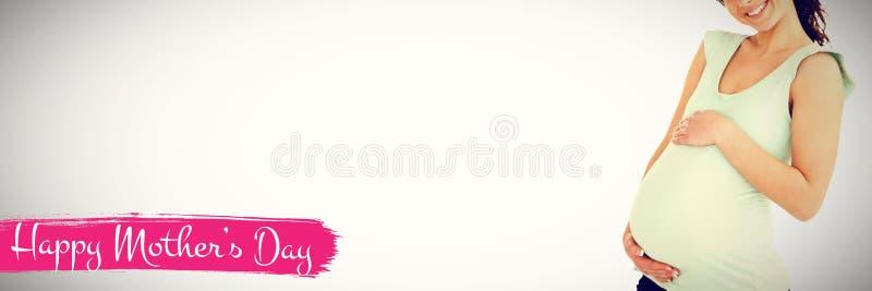 Image composée de composé numérique de jour de mères heureux sur le fond blanc illustration de vecteur