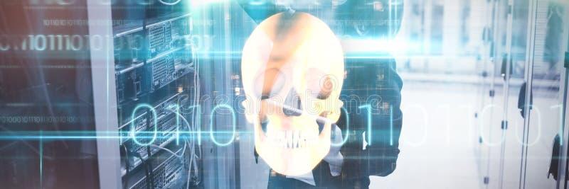 Image composée de crâne humain orange photos libres de droits