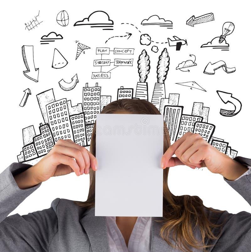 Download Image Composée De Femme D'affaires Montrant Une Carte Image stock - Image du femelle, businesswoman: 56478077