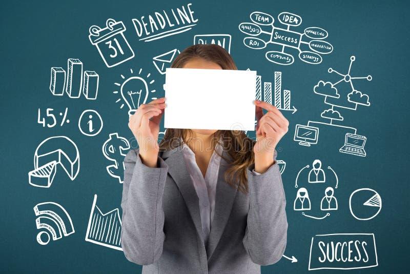 Download Image Composée De Femme D'affaires Montrant Une Carte Photo stock - Image du affaires, composé: 56478800
