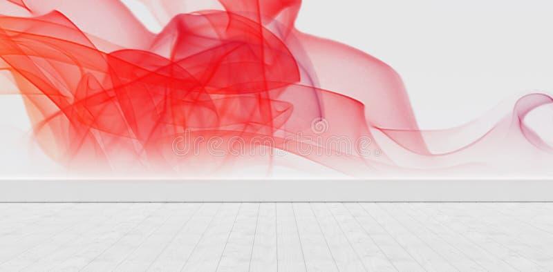 Image composée de fumée rouge sur le fond blanc illustration libre de droits