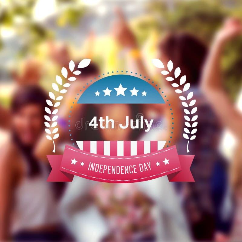 Image composée de graphique de Jour de la Déclaration d'Indépendance illustration de vecteur
