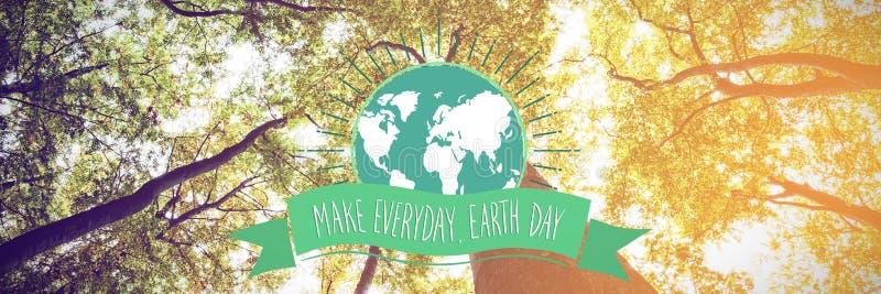 Image composée de graphique de jour de terre photos libres de droits