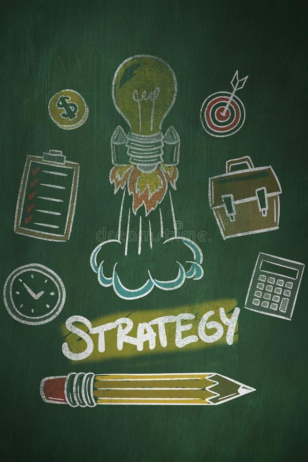 Download Image Composée De Griffonnage De Stratégie Illustration Stock - Illustration du ampoule, innovation: 56479362