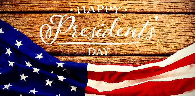 Image composée de jour heureux de présidents typographie photo stock