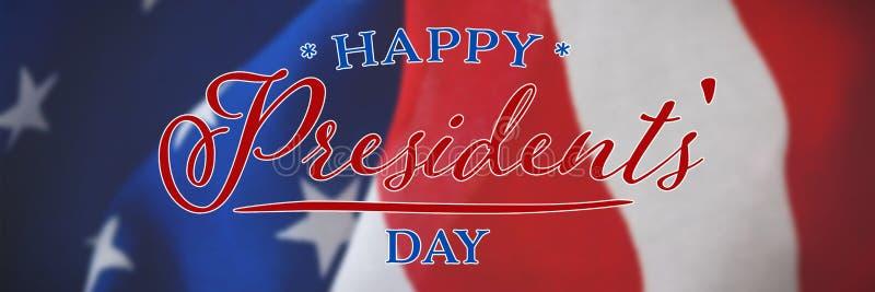 Image composée de jour heureux de présidents typographie photographie stock libre de droits