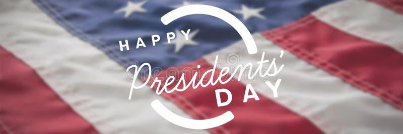 Image composée de jour heureux de présidents typographie photos stock