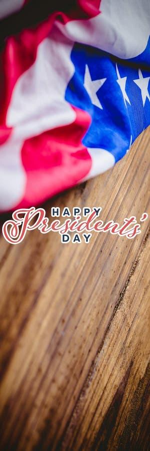Image composée de jour heureux de présidents typographie photographie stock