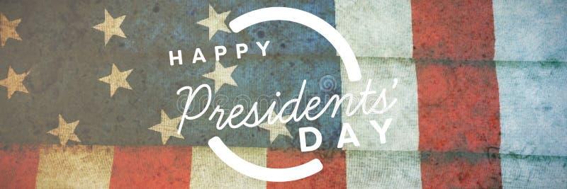 Image composée de jour heureux de présidents typographie image libre de droits