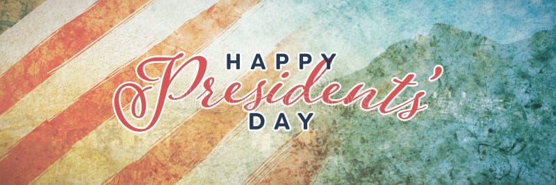 Image composée de jour heureux de présidents typographie photo libre de droits
