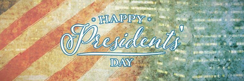 Image composée de jour heureux de présidents typographie image stock