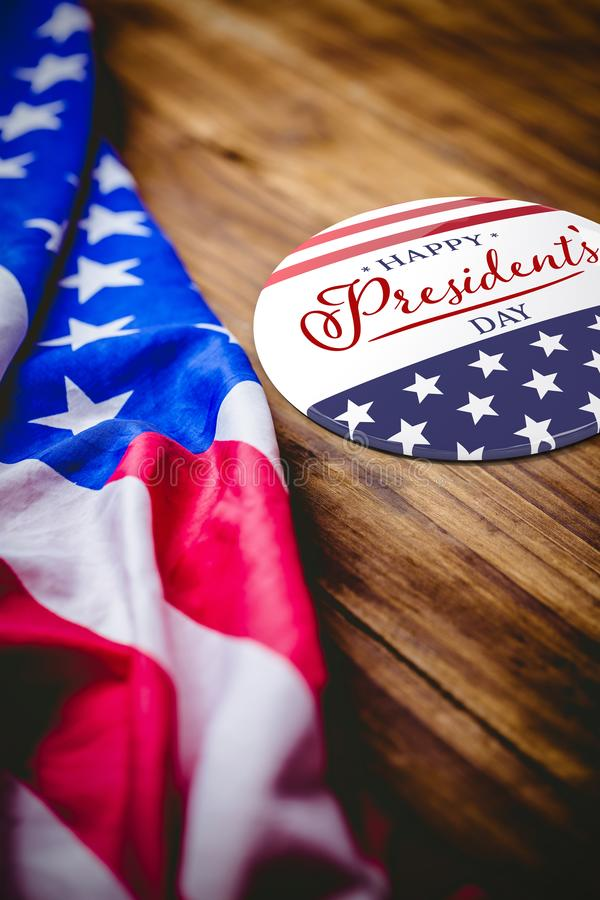 Image composée de jour heureux de présidents typographie images stock