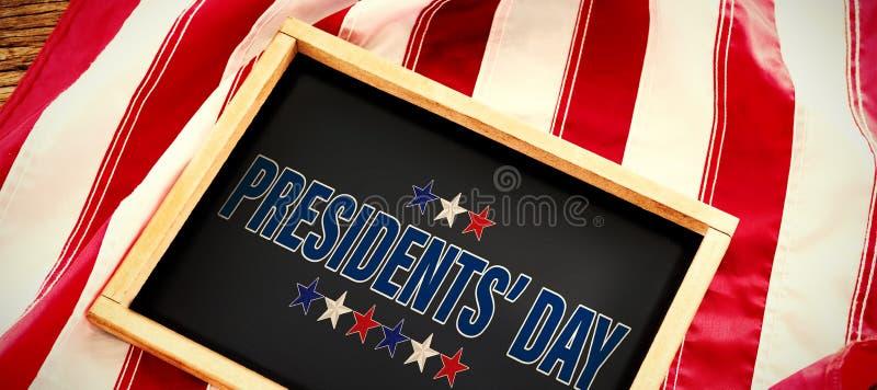 Image composée de jour de présidents typographie, étoiles images stock
