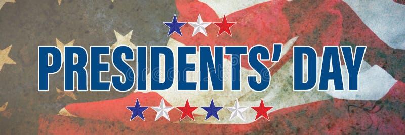 Image composée de jour de présidents typographie, étoiles image libre de droits