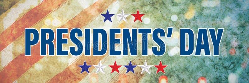 Image composée de jour de présidents typographie, étoiles photographie stock libre de droits