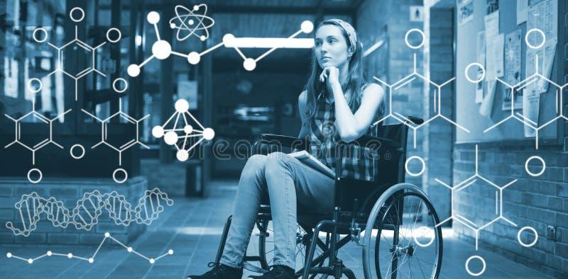 Image composée de l'illustration des formules chimiques illustration de vecteur