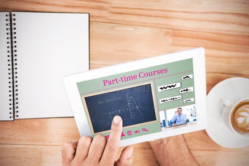 Image composée de l'image composée des cours en ligne photographie stock libre de droits