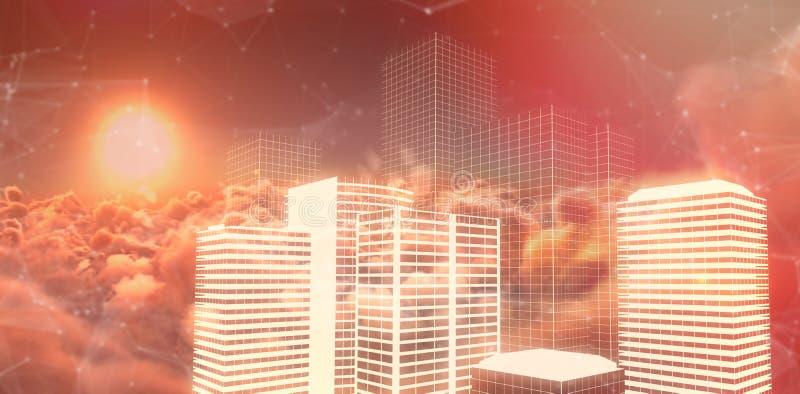 Image composée de l'image composée numérique des bâtiments illustration libre de droits