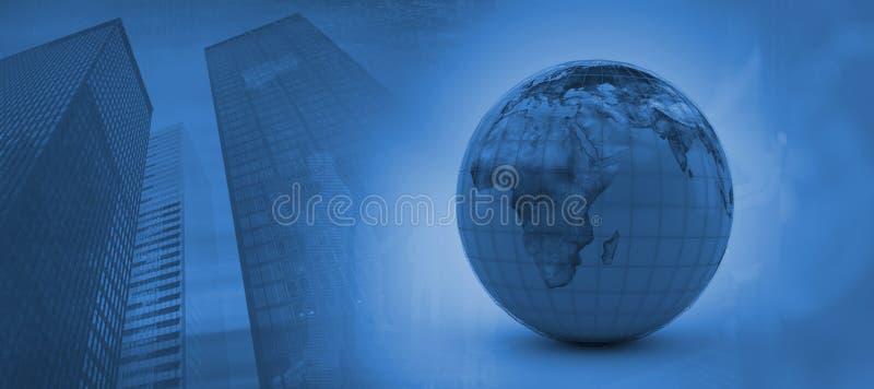 Image composée de l'image 3d du globe bleu illustration stock