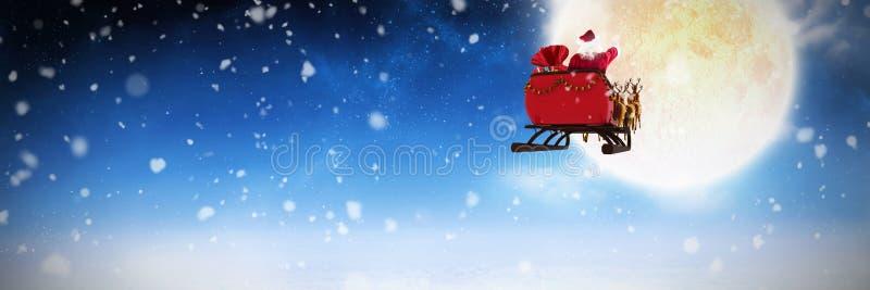 Image composée de la chute de neige photographie stock libre de droits