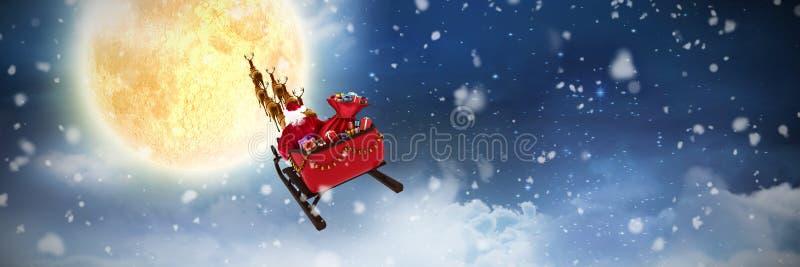 Image composée de la chute de neige photo libre de droits