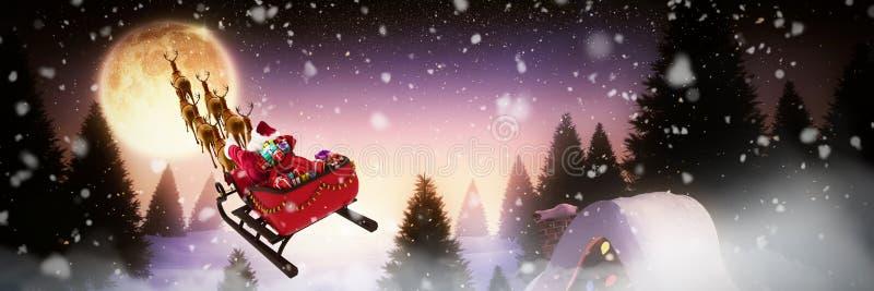 Image composée de la chute de neige illustration libre de droits