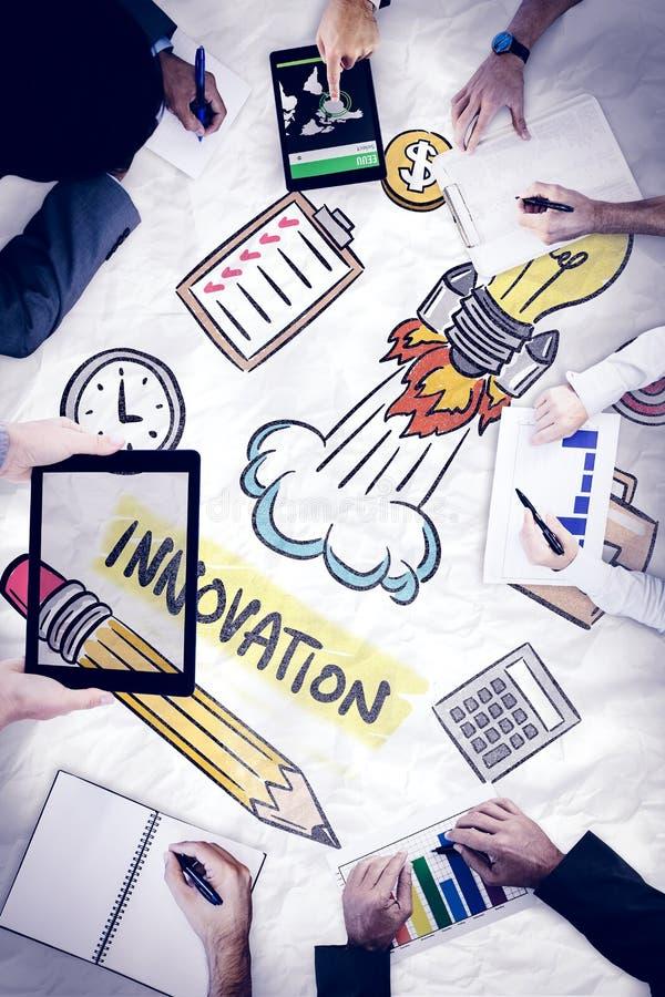 Download Image Composée De La Réunion D'affaires Image stock - Image du contact, innovation: 56480147
