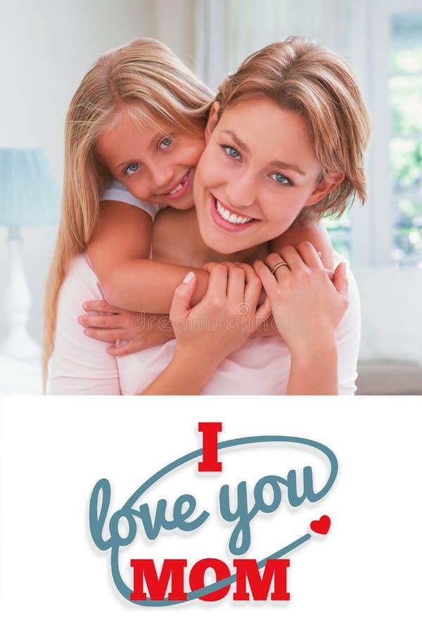 Image composée de la salutation de jour de mères illustration de vecteur