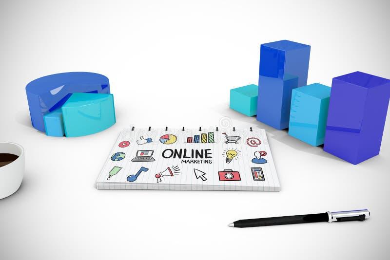 Download Image Composée De Marketing En Ligne Illustration Stock - Illustration du graphique, boisson: 56479607