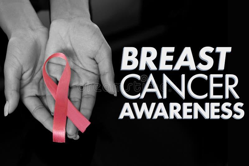 Image composée de message de conscience de cancer du sein photos stock