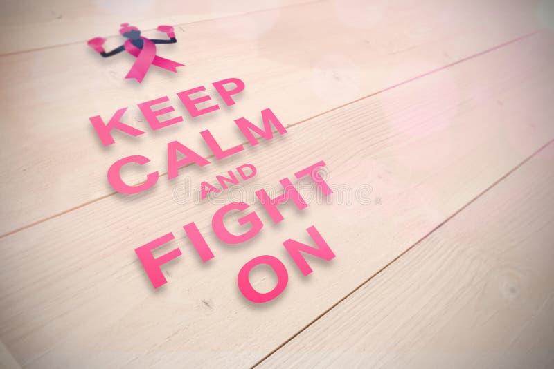 Image composée de message de conscience de cancer du sein illustration libre de droits