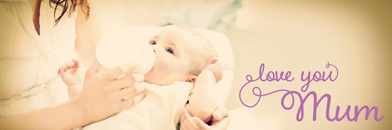Image composée de message de jour de mères images stock