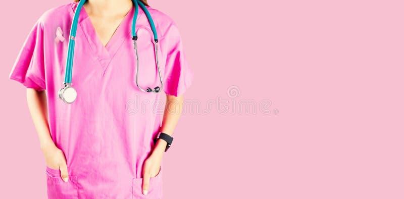 Image composée de mi section d'infirmière avec le stéthoscope photographie stock libre de droits