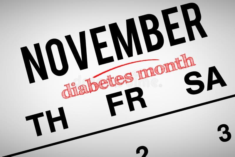 Image composée de mois de diabète illustration libre de droits