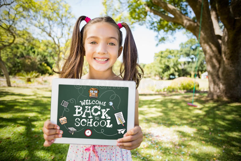 Image composée de nouveau à école photos libres de droits