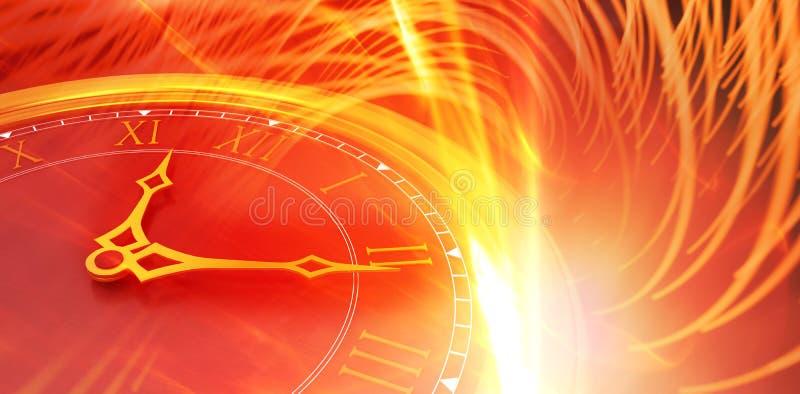 Image composée de plan rapproché des mains d'horloge illustration de vecteur