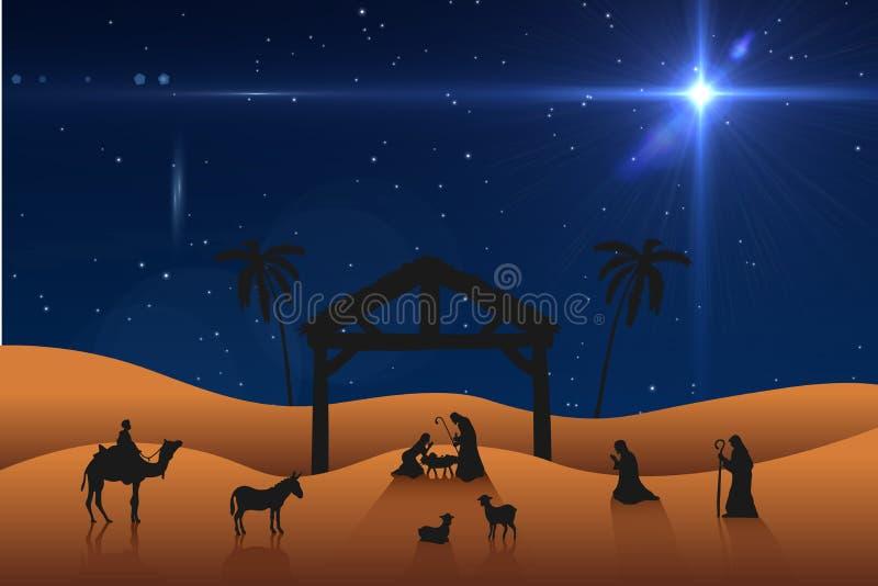 Image composée de scène de nativité illustration stock