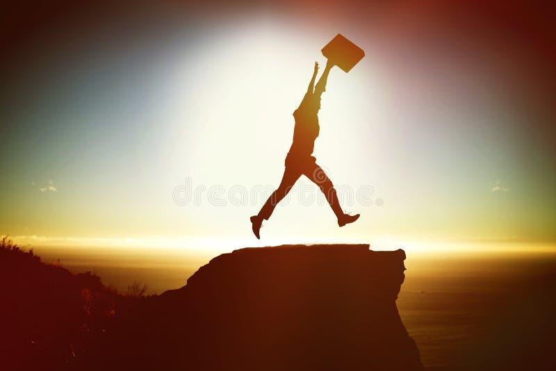 Image composée de silhouette d'homme d'affaires photo libre de droits