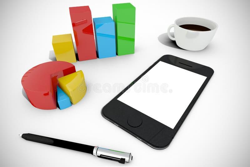 Download Image Composée De Smartphone Avec Des Graphiques Illustration Stock - Illustration du téléphone, vignette: 56479053