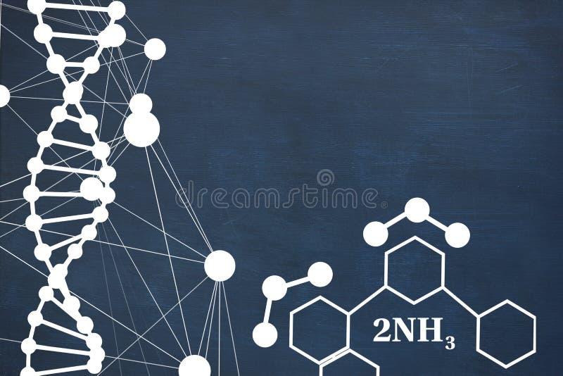 Image composée de structure d'hélice d'ADN sur le fond blanc illustration libre de droits