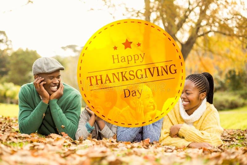 Image composée de thanksgiving heureux image libre de droits