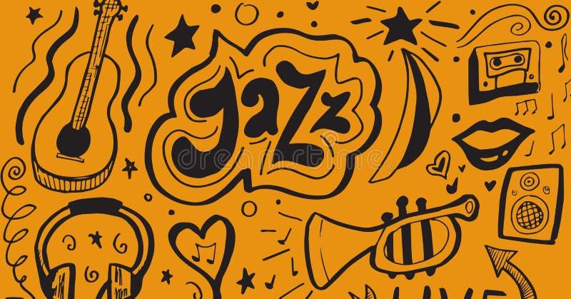 Image composée des articles de jazz illustration libre de droits