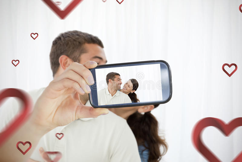 Image composée des couples de valentines images libres de droits