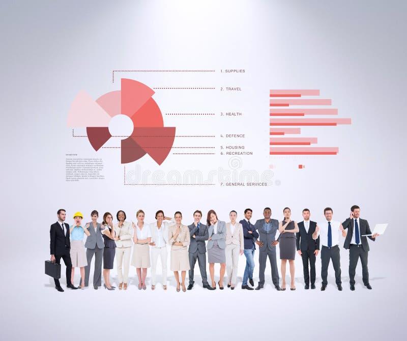 Image composée des gens d'affaires multi-ethniques se tenant côte à côte photos libres de droits