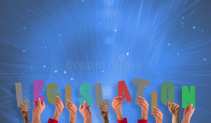 Image composée des mains retardant la législation photographie stock libre de droits